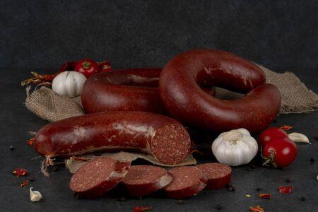 Turkish sausage kangal sucuk.