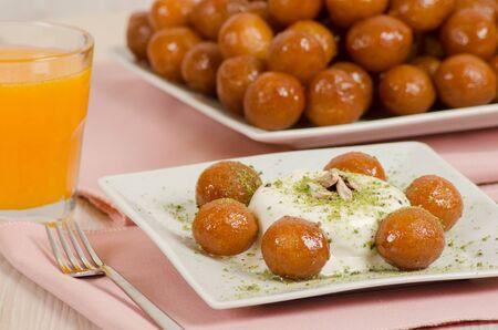 Turkish dessert mouthful stock photo Stock Photo