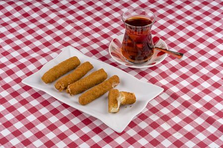 Traditional Turkish fried cheese