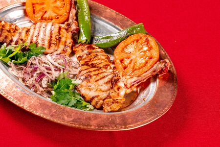 Traditional Turkish chicken grill