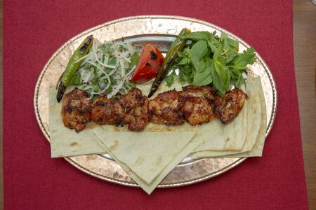 Traditional Turkish chicken grill Stock Photo