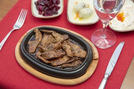 The liver kebab stock photo Stock Photo