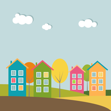 background house: Colorful Houses, Autumn Theme