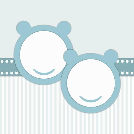 boyish: Baby Shower Invitation Card - Twins