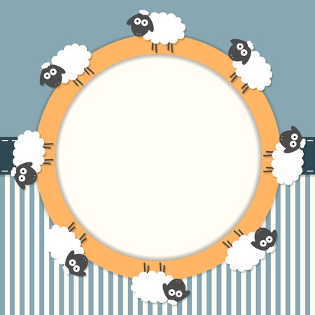 Funny Card With Sheep And Stripes