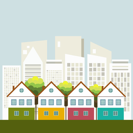 Colorful City, Healthy Living Concept