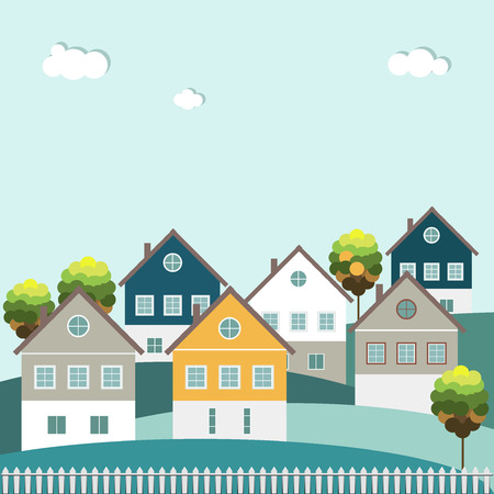 Abstract Houses, Real Estate Concept
