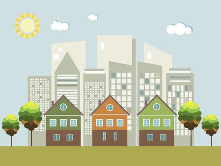 Moderne Green City Konzept Standard-Bild - 65658027