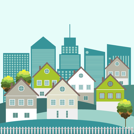 immovable property: Abstract City Concept