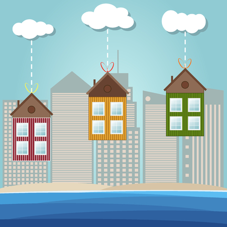 Colorful Beach Houses For Sale  Rent. Real Estate