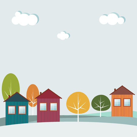 immovable: Colorful Houses, Real Estate Concept