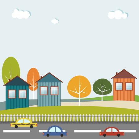 greensward: Houses For Sale  Rent. Real Estate Concept Illustration