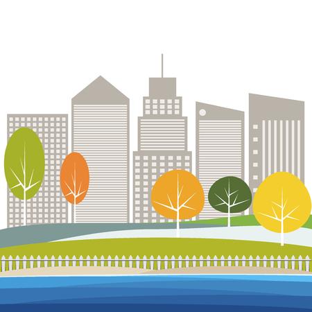 Modern City Concept Illustration
