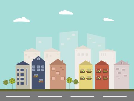 Modern Eco City Concept Illustration