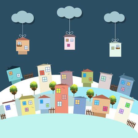 immovable property: Colorful Eco Houses For Sale, Real Estate, Christmas Gifts