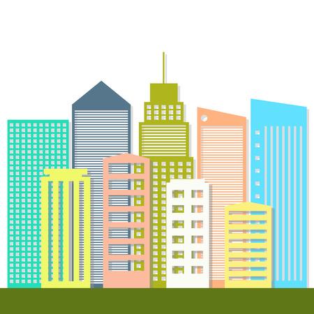Modern Business City Concept Illustration