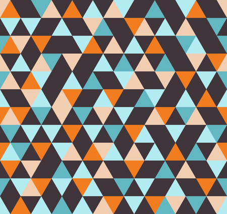 Abstract Geometric Pattern Background With Colorful Triangles