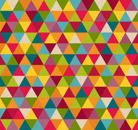 Abstract Geometric Seamless Pattern Background With Colorful Triangles