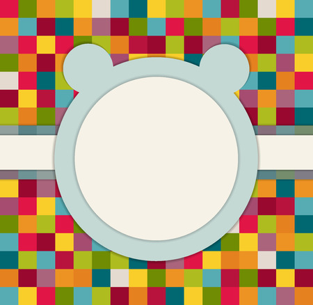 boyish: Baby Shower Invitation Card With Blue Bear