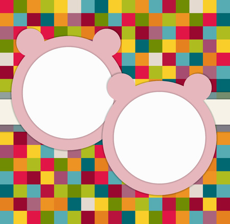 It`s Twins Baby Shower Invitation Card With Pink Bears