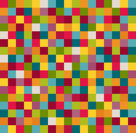 Abstract Geometric Pattern Background With Colorful Squares