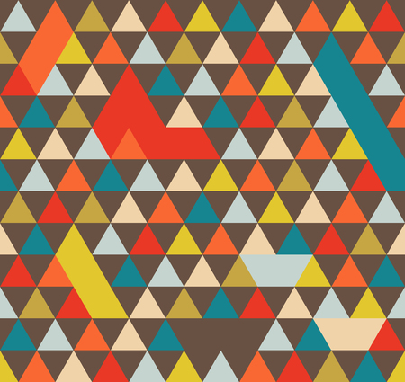 Abstract Geometric Pattern  With Colorful Triangles