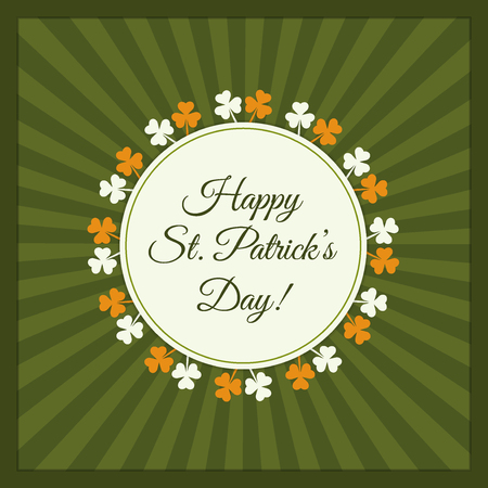 Retro Happy St. Patricks Day Greeting Card  Poster Illustration