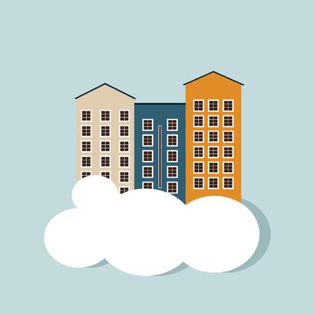 Real Estate Concept. Apartments For Sale  Rent. Illustration