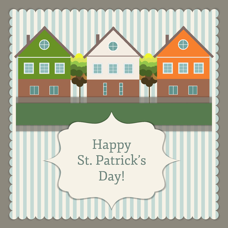 ireland flag: Happy St. Patrick`s Day Greeting Card  Poster Illustration