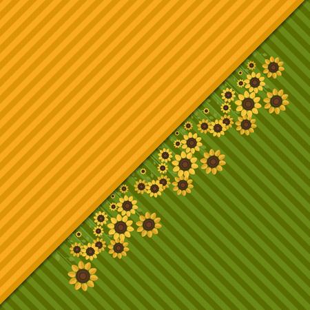 Abstrakter Hintergrund mit bunten Feldern und Sonnenblumen Standard-Bild - 80034664