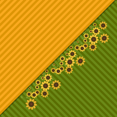 Abstract Background With Colorful Fields And Sunflowers