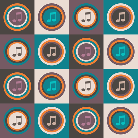 Abstract Geometric Pattern Background With Colorful Suqares, Notes, Circles Standard-Bild - 118200422