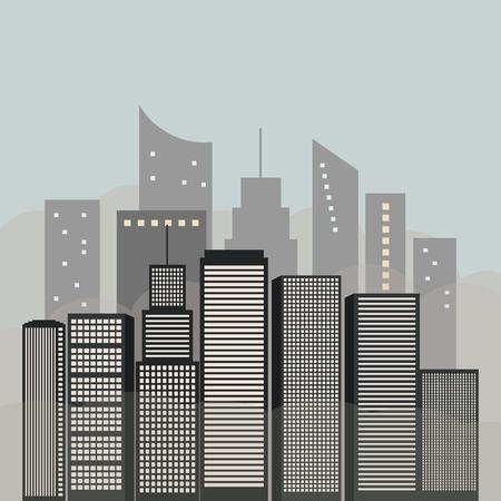 City Landscape With Skylines. Smog, Pollution, Fine Dust Particles Standard-Bild - 118200430