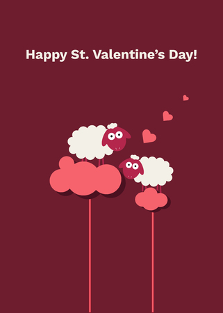 Happy St. Valentine's Day Abstract Card Standard-Bild - 118200500