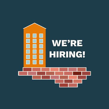 We're Hiring Announcement. Career Opportunity Standard-Bild - 118200529