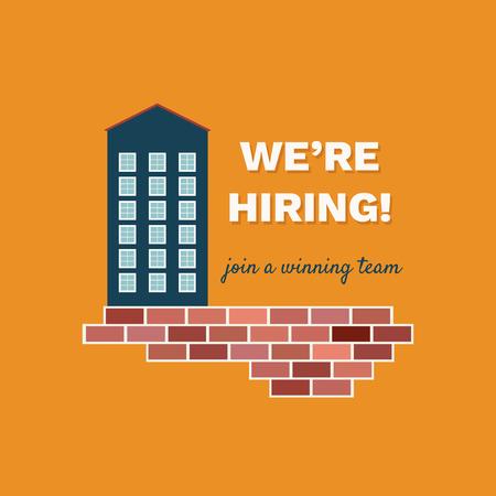 We're Hiring Announcement. Career Opportunity Standard-Bild - 118200531