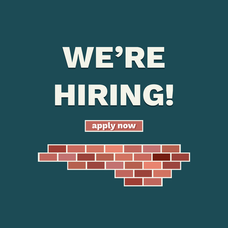 We're Hiring Announcement With Bricks Standard-Bild - 118200533