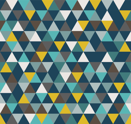 Abstract Geometric Pattern Background With Colorful Triangles Standard-Bild - 118200567