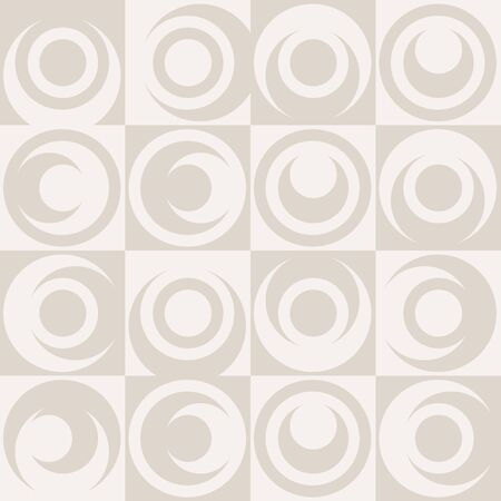 Abstract Geometric Pattern Background With Colorful Squares And Asymmetrical Circles