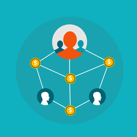 network business, Graph Affiliate Marketing, network marketing, affiliate network, affiliate marketing programs Illustration
