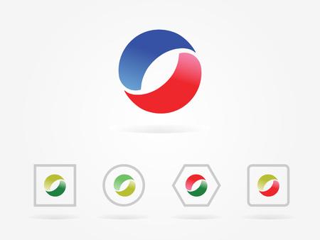 Red Vector illustration circle logo Illustration