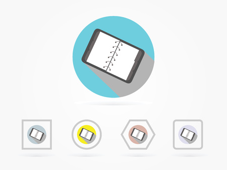 Icône de bloc-notes illustration vectorielle