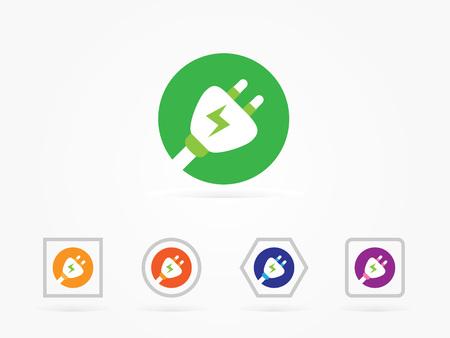 Plug icon vector illustration colorful