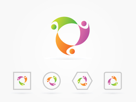 potential: Vector Illustration Humman Potential circle for business logo