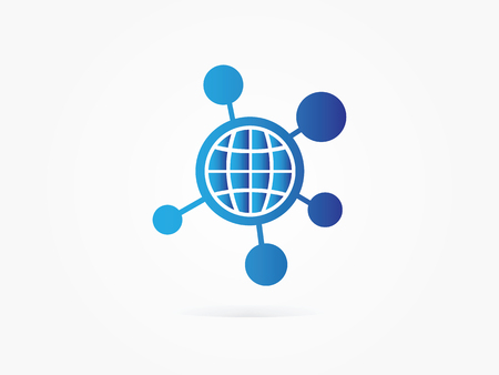 coordinates: Vector Illustration Globe Spot Network icon for Website icon or Business