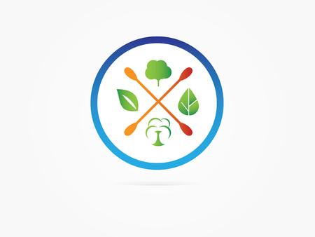 Vector Illustration Green tree circle icon design