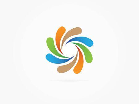 spin: Vector Illustration Splash spin logo vector multicolored
