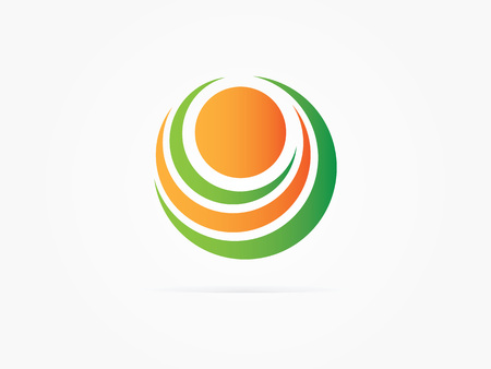 Vector Illustration Abstract circle logo multicolored design