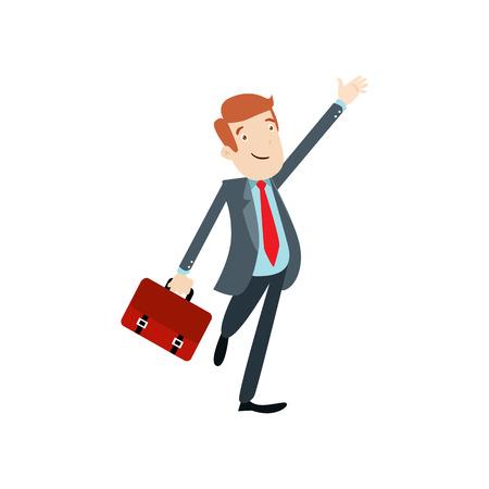 Flat style modern business Employees in dark blue blazer clothes. Vector icon set. Men lifestyle icon.