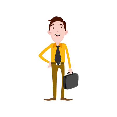 Flat style modern business Employees in casual clothes. Vector icon set. Men lifestyle icons present.